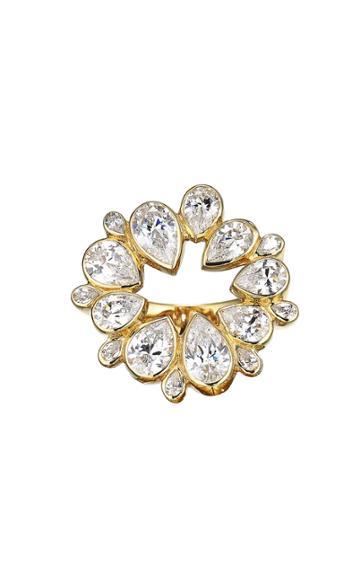 Moda Operandi Anabela Chan 18k Yellow Gold Diamond Panettone Ring