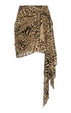 Dundas Gilded Leopard Print Skirt