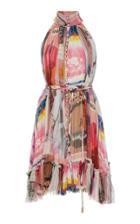Moda Operandi Zimmermann Wavelength High Collar Mini Dress Size: 0