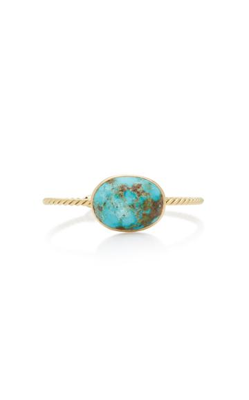 Haute Victoire Twisted 18k Yellow-gold And Turquoise Cuff