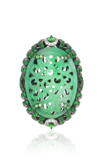 Wendy Yue 18k Green Jade Ring