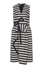 Delpozo Striped Midi Dress