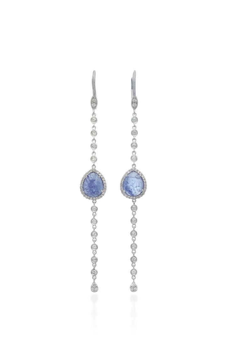 Meira T 14k White Gold Tanzanite And Diamond Earrings