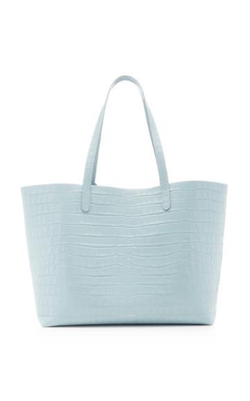 Mansur Gavriel Croc-embossed Leather Tote Bag