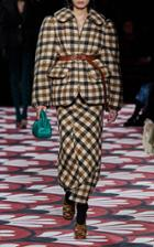 Moda Operandi Miu Miu Oversized Plaid Peplum Wool-cotton Blazer