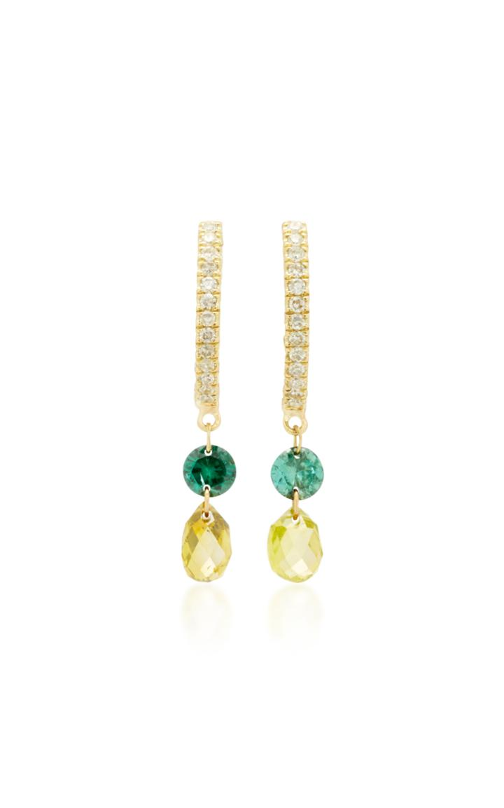 Meira T 14k Gold Diamond Earrings