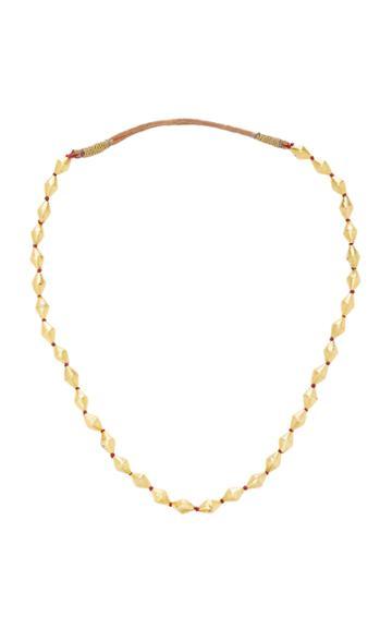 Ranjana Khan Antique Diamond Shaped Bead Necklace