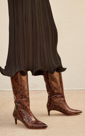 Moda Operandi Loeffler Randall Gloria Embossed Knee High Boots
