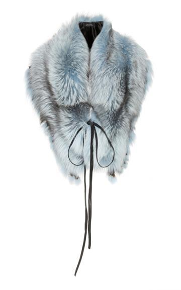 Lysa Lash Furs Fox Oversized Fringe Collar