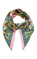Moda Operandi Dolce & Gabbana Fruit-print Silk Twill Scarf