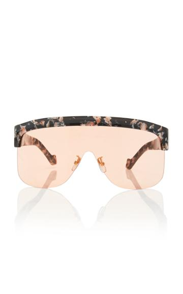 Loewe Marbled Acetate Shield Sunglasses