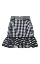 Rahul Mishra Ruffled Gingham Mini Skirt