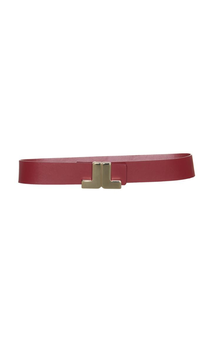 Lanvin Jl Logo Leather Belt