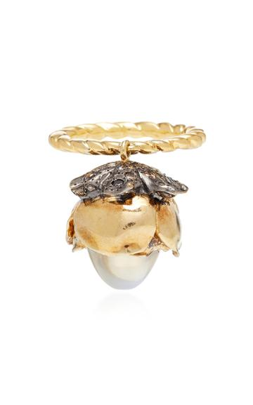 Sylvie Corbelin One-of-a-kind Mobile Moonstone Flower Ring