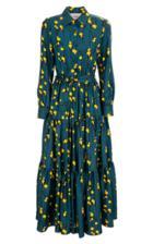 La Doublej Bellini Tiered-hem Silk Maxi Dress