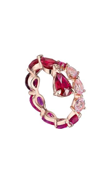 Moda Operandi Anabela Chan 18k Rose Gold Fuchsia Nova Coil Ring