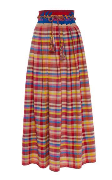 Carolina K Santa Clara Hand Embroidered Cotton Skirt