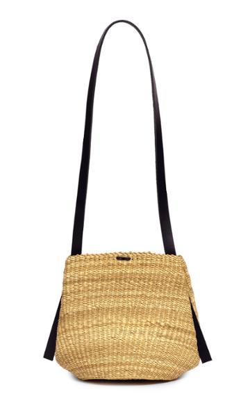 Ins Bressand Straw Crossbody Bag