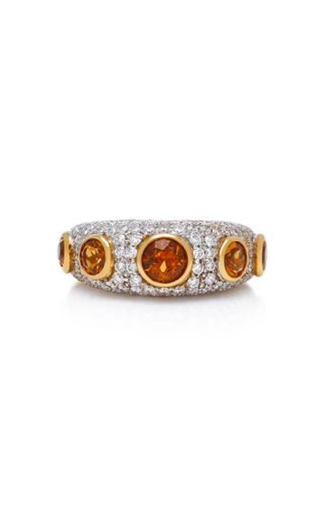 Gioia 18k Gold Citrine And Diamond Ring