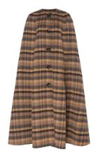 Marc Jacobs Checked Wool-alpaca Cape