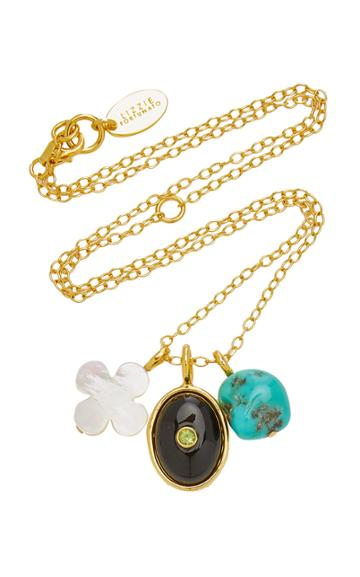Lizzie Fortunato Black Oasis Gold-plated Multi-stone Necklace