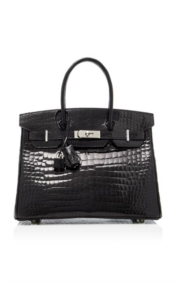 Heritage Auctions Special Collection Hermes 30cm Shiny Black Porosus Crocodile Birkin