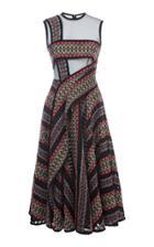 Hussein Bazaza Sleeveless Tweed A Line Dress