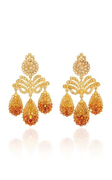 Sylvie Corbelin Marquise Palace 18k Gold Citrine Earrings