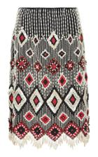 Tory Burch Kaya Beaded Skirt