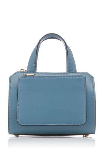 Valextra Passepartout Mini Glossy Smooth Leather Tote