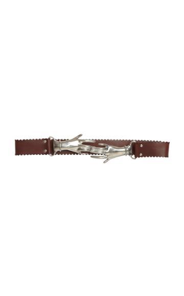 Moda Operandi Victoria Beckham Interlocking Hands Leather Belt