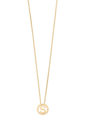 Moda Operandi Robinson Pelham 14k Yellow Gold Small Alphabet Circus Necklace