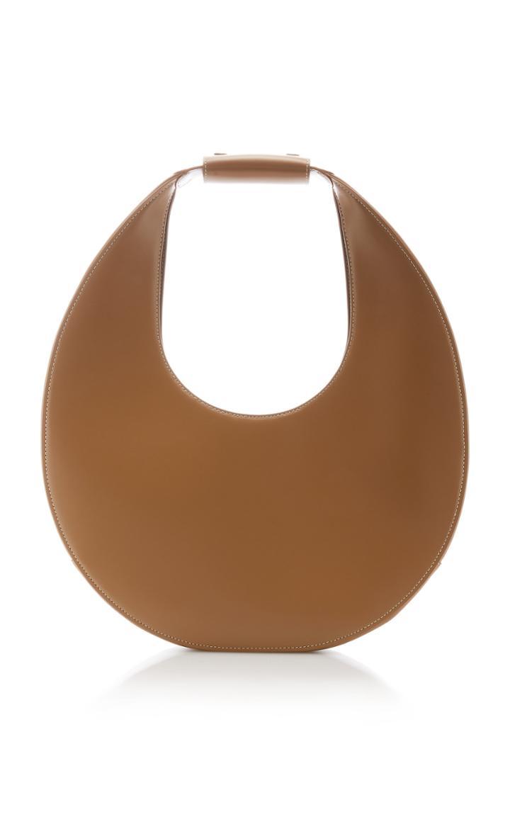 Moda Operandi Staud Large Moon Leather Shoulder Bag