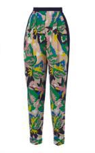 Delpozo Printed Pleated Pants