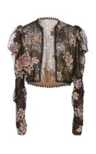 Anna Sui Embroidered Lace Jacket