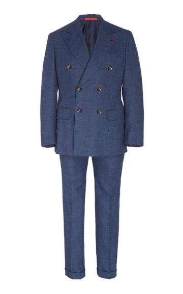 Isaia Musa Double Breasted Suit