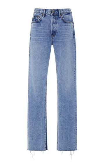 Grlfrnd Denim Addison High Rise Split Bootcut Jean