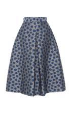 Luisa Beccaria Floral Jacquard Skirt