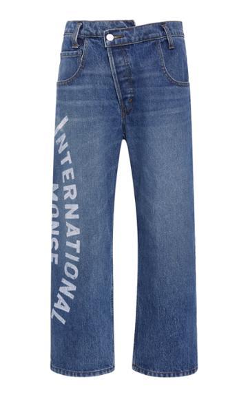 Monse Printed Mid-rise Straight-leg Jeans