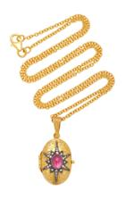 Arman Sarkisyan 22k Gold Pink Tourmaline And Diamond Necklace