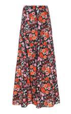 Goen.j Floral Printed Paneled Maxi Skirt