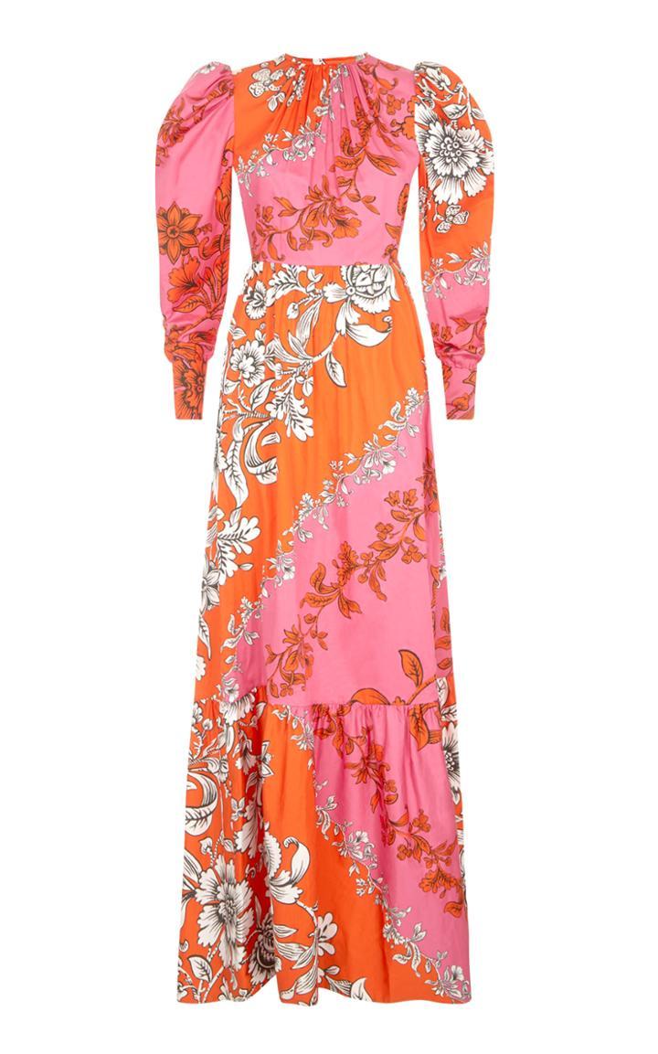 Erdem Claudina Floral Print Cotton Gown
