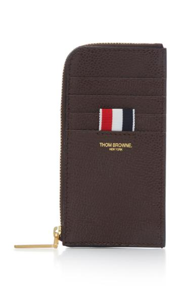 Thom Browne Pebble-grain Leather Half-zip Wallet