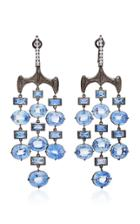 Vram One-of-a-kind Chrona Earrings With Diamond And Blue Sapphire