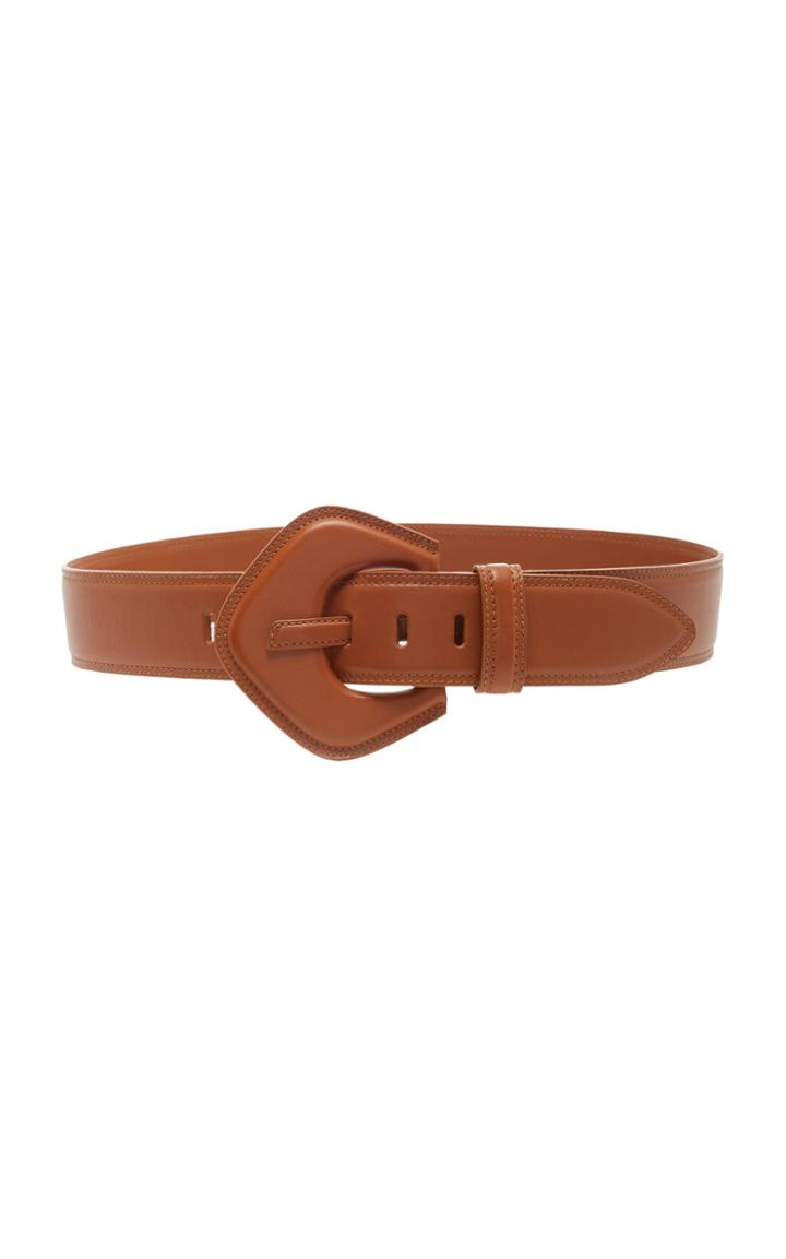 Moda Operandi Zimmermann The Oversized Leather Buckle Waist Belt