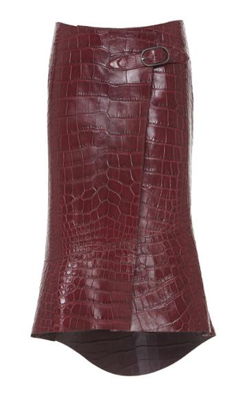 Roberto Cavalli Croc Leather Skirt