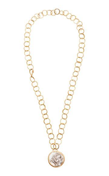 Eli Halili Antique 22k Gold And Silver Necklace