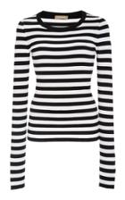 Michael Kors Collection Striped Crewneck