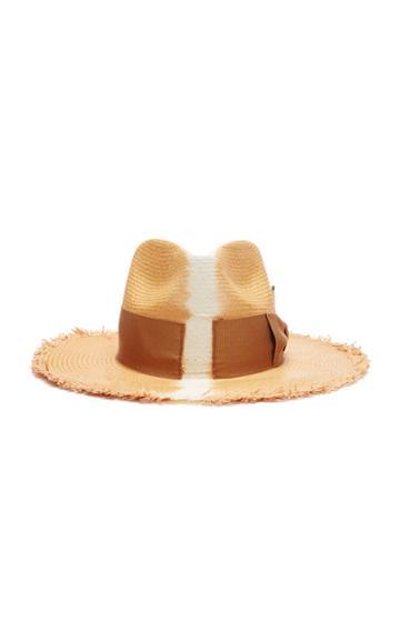 Nick Fouquet Rayon Straw Hat