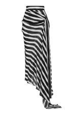 Maticevski Aquarius Asymmetric Striped Chiffon Skirt